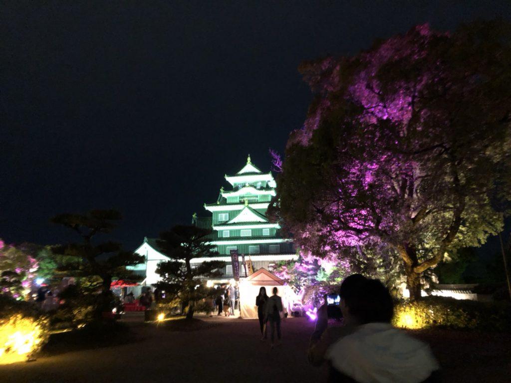 全体の岡山城